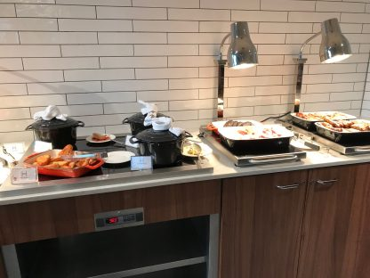 Crowne Plaza Newcastle breakfast hot options