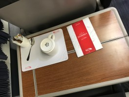 Virgin Trains East Coast First Class table settings
