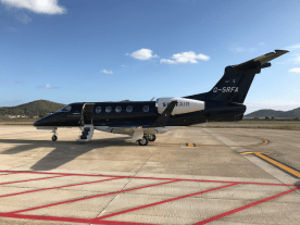 Surf Air Embraer Phenom 300 G-SRFA on the ramp at Ibiza Airport