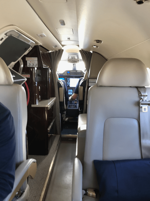Interior view of the Phenom 300 looking forwards