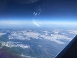 View from the Phenom 300 to London Luton over France