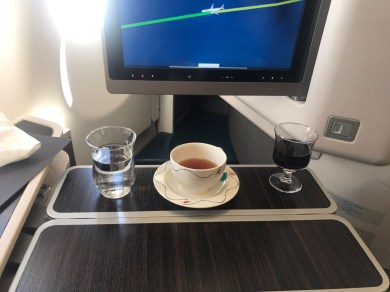 Sri Lankan airways business class coffee and wine