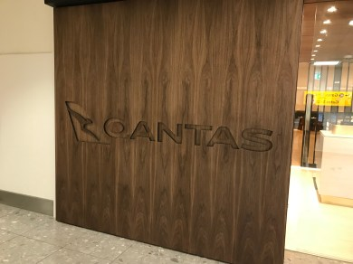 Qantas London Lounge entrance