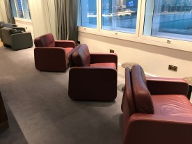 Qantas London Lounge comfy chairs