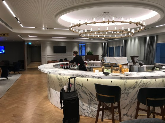Qantas London Lounge cocktail bar