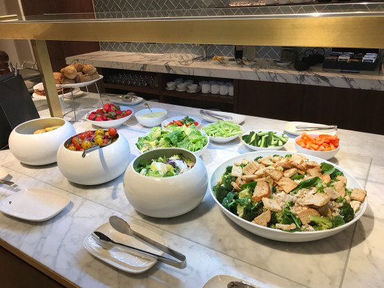 Qantas London Lounge salads