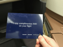 Singapore Airlines Business Class wifi voucher