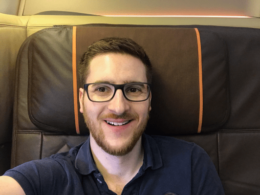 Ginger Travel Guru in Singapore Airlines First Class
