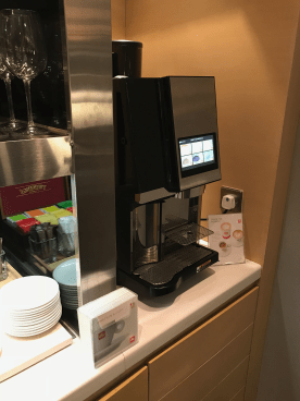 United Global First Lounge Hong Kong espresso machine