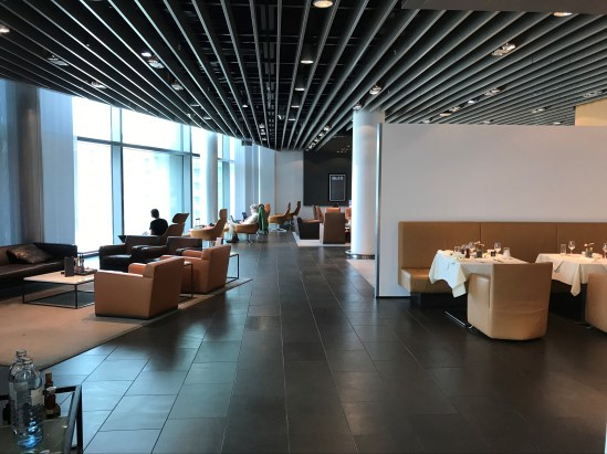 Lufthansa First Class Lounge seating