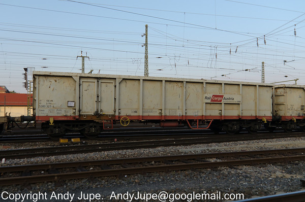 Rail Cargo Austria liveried Eanos 31 81 5380 321-4 passes through Fürth in Germany on the 8th of October 2013