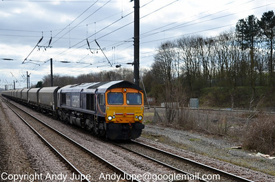 66 727 passing Skelton Junction, York on the 19th March 2012