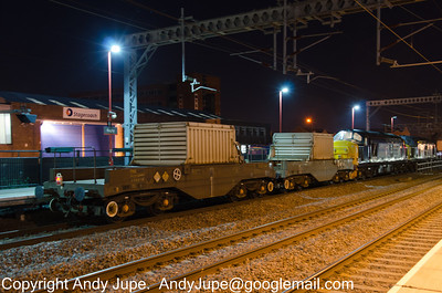 37 229 & 37 409 at the head of 6K51 21:09 Willesden Brent Yard to Crewe hauling from left to right FNAs 550014 & 550031