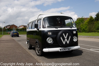Monty the VW Camper Van parked at Toton on the 8th May 2012