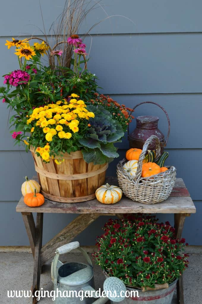 Fall Outdoor Decor Ideas, Outdoor Fall Vignettes featuring flea market finds