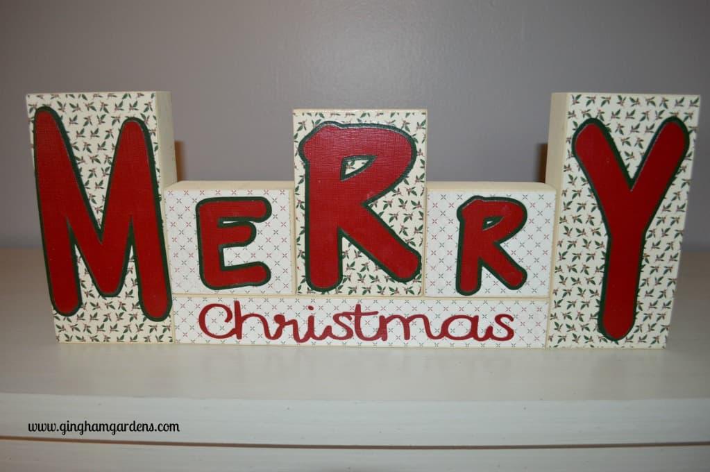 Reversible Holiday Blocks - Merry Christmas