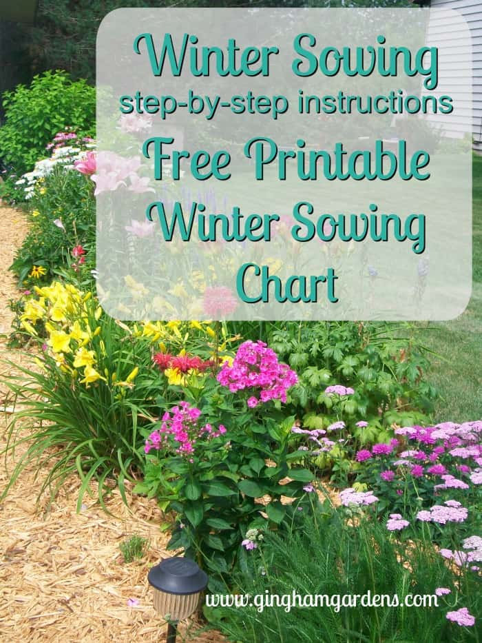 Winter Sowing Free Printable Tracking Chart