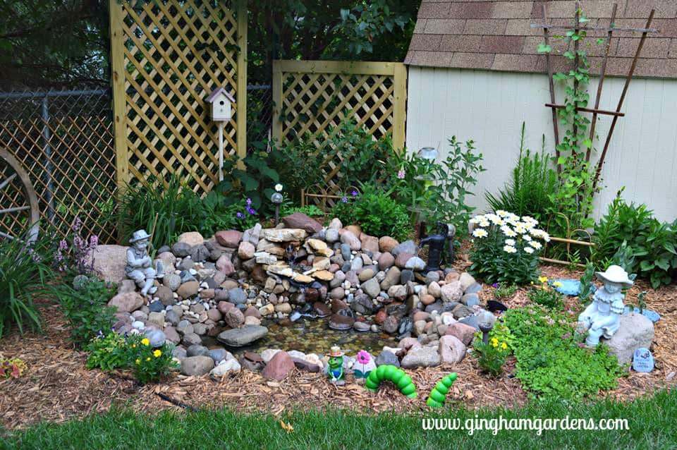 diy small garden pond with simple instructions gingham gardens