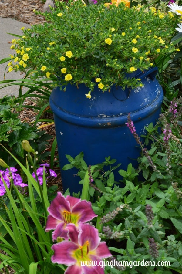 Vintage Milk Can as a Flower Planter