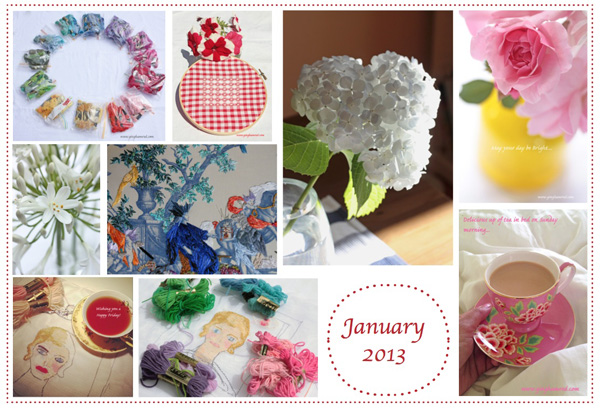 january 2013 collage