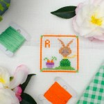 R is for Mr Roger Rabbit cross stitch