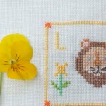 L is for Lion cross stitch