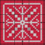 Red and White Needlepoint