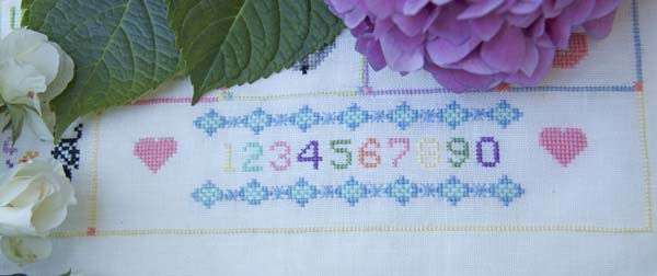 One, two, three cross stitch