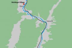 Niigata Karte: Koi Village, Sakado, Ryugon