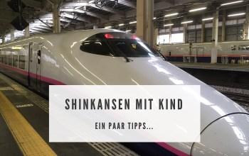Shinkansen mit Kind