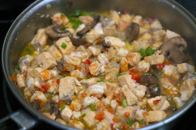 Cajun Salmon and Shrimp Penne - Cubed Seafood