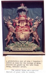 Canadian Spem Reduxit Coat of Arms - Gino Masero