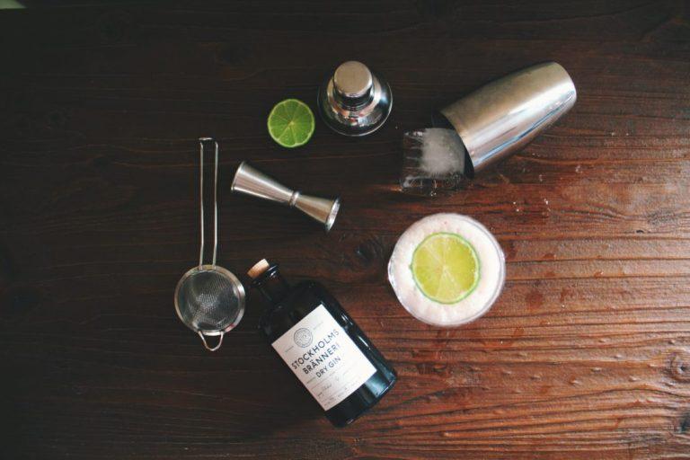 Gin Tonic Shacker Einwürfel auf Bar