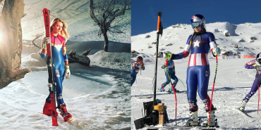 US-Ski-Team in Marvel Outfits unterwegs
