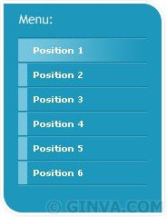 CSS graphic menu with rollovers