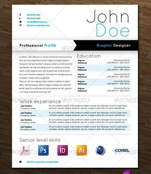 15 modern design resume templates you can use today 25 and ginva modern professional resume templates
