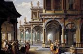 "Dirck Van Delen, ""An elaborate architectural capriccio with Jephtah and his daughter"" (1633)"