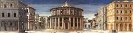 "Unknown Italian painter, ""Ideal City"" (late XV century)"