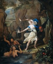 """Eglon Hendrik van der Neer, """"Circe transforming Scylla into a monster"""" (1695)"""