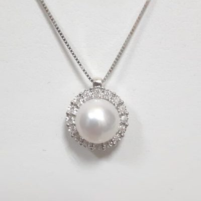 COLLANA DA DONNA MILUNA PERLA E DIAMANTI cod. pcl5748