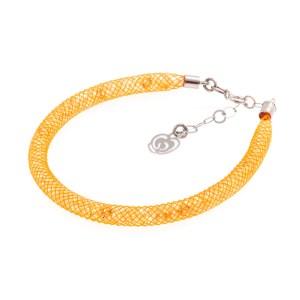 Bracciale arancio-mango-argento-925