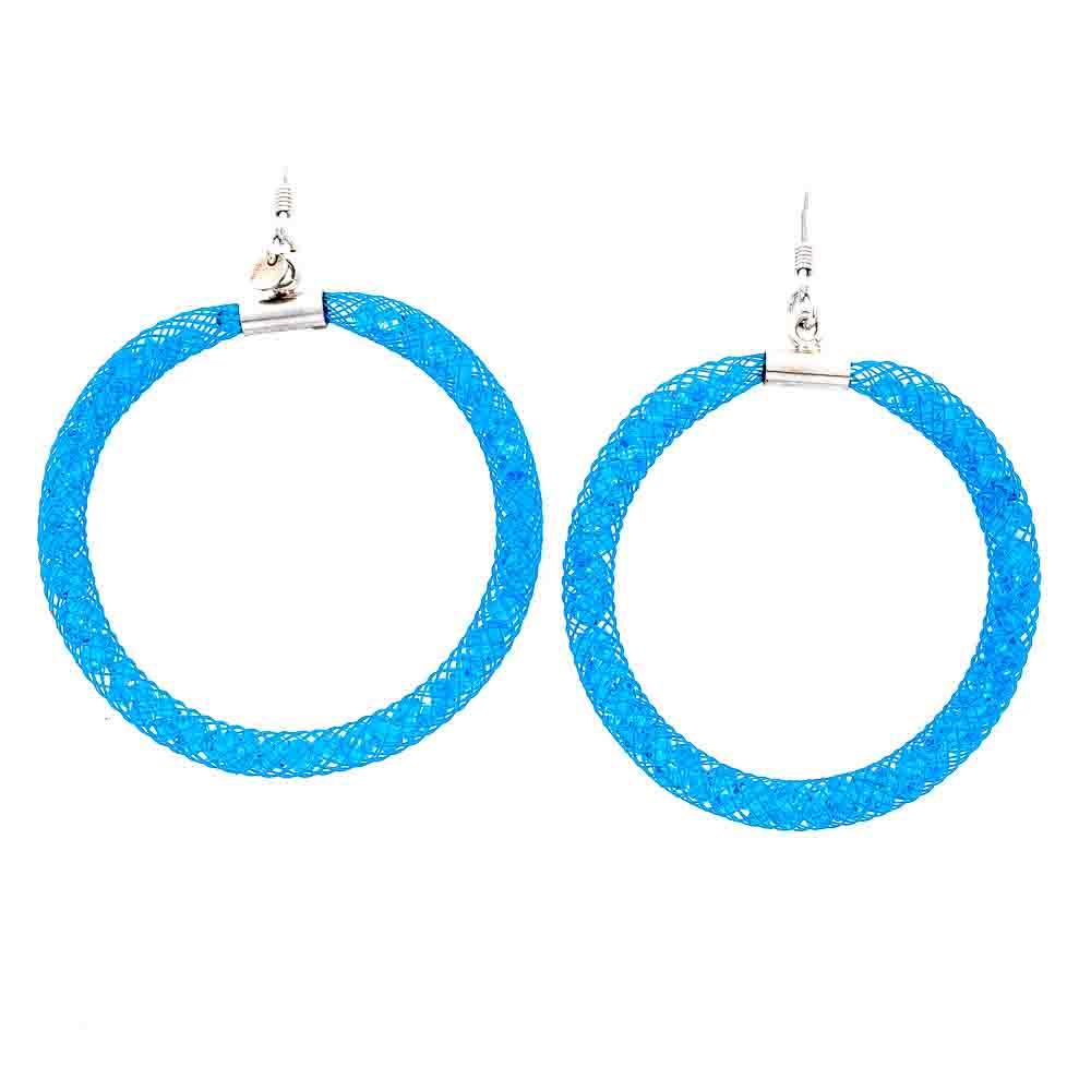 Orecchini Azzurri a cerchio collezione Madame