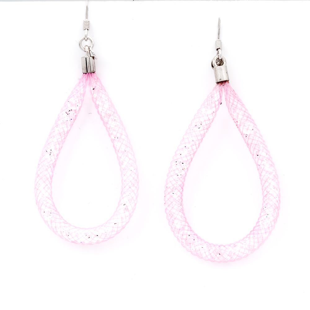 orecchini rosa pendenti a goccia