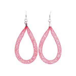 orecchini rossi pendenti argento 925 e cristalli