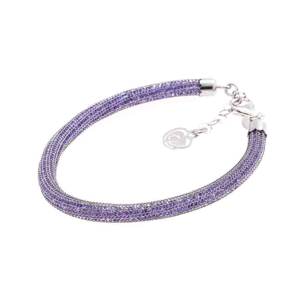 bracciale viola argento 925 cristalli