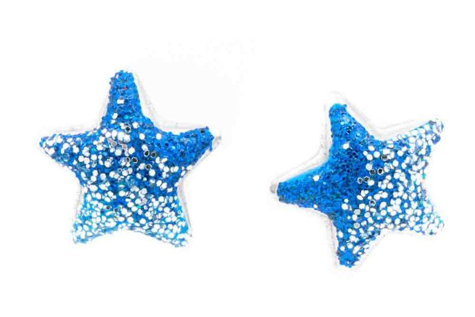 orecchino argento-925 forma-stella-blu