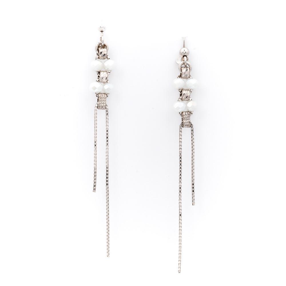 orecchino bianco pendente collezione femme