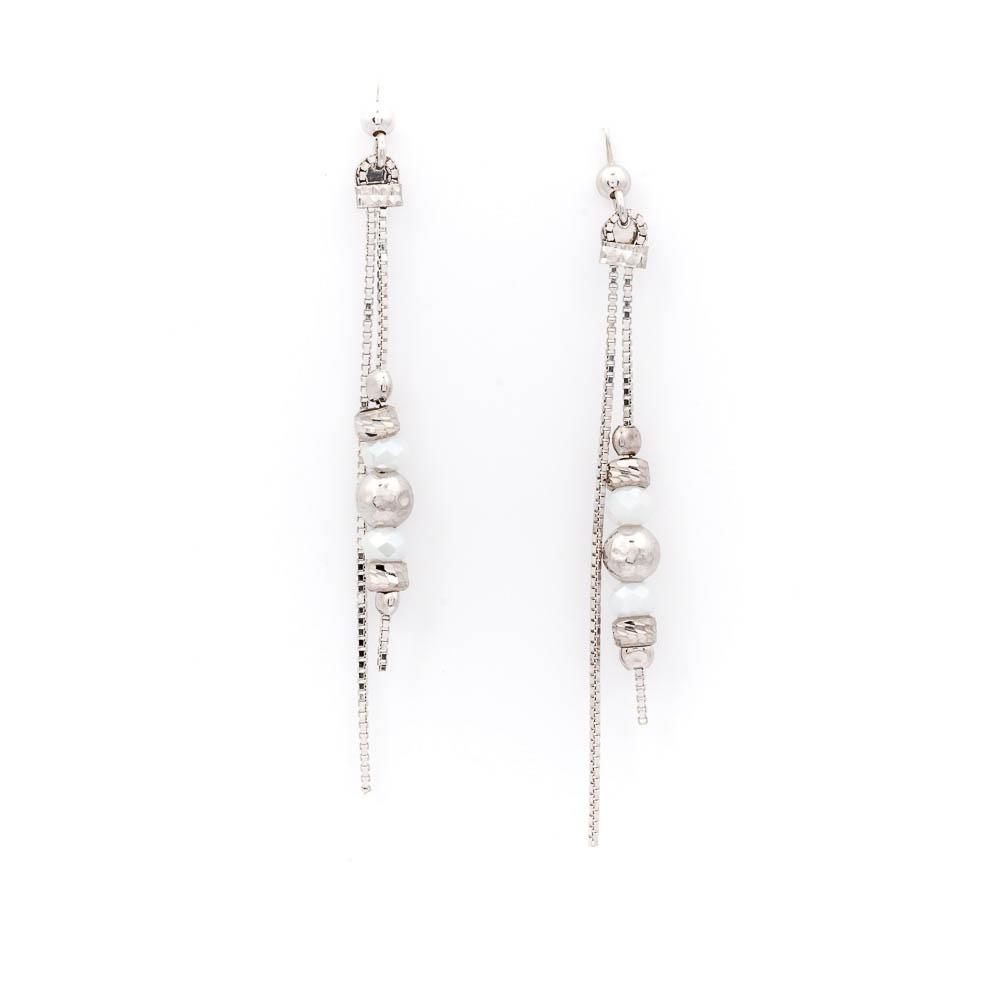 orecchino pendente bianco