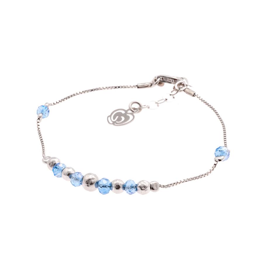 bracciale argento-925-cristalli azzurri