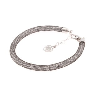 bracciale argento 925 e cristalli neri